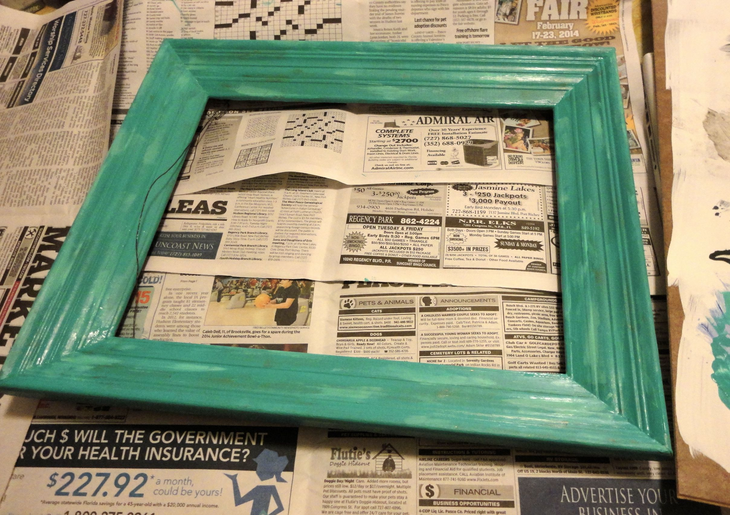 How to refinish an old picture frame and turn it into a fun blackboard5 jeuxipadfo Choice Image